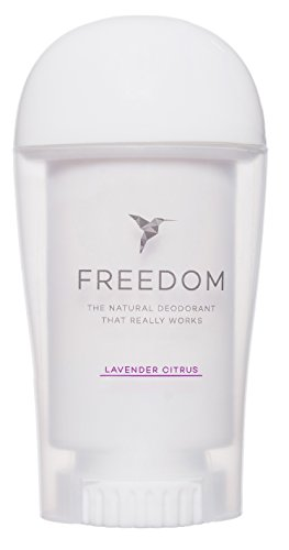 Freedom All Natural Deodorant Aluminum Free Odor Protection Tested & Loved by Cancer Survivors, Busy Execs, Military Personnel, Athletes, Healthy Moms & Kids - Lavender Citrus 1.7 oz.