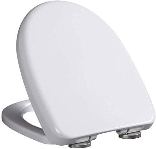 スローミュートトイレ便座カバー付きS-gracefulトイレ蓋U字型便座用の厚く上部に取り付けられた浴室蓋、ホワイトA