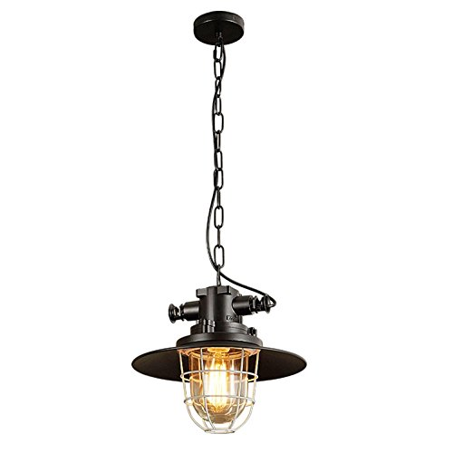 GRFH Industrial Explosion-Proof Pendant Lamp Restaurant Bar Desk Lamp Country Creative Bar Coal Mining Construction Dedicated Outdoor Waterproof Bird Cage Pendant Light (Ochre Candle Holder)