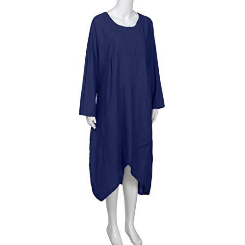 Playa túnica Vintage de la de Maxi Vendimia Traje Camiseta Vintage Manga Vestido Larga de Blusa la Mujer otoño Bohemian Largo Marino Vestido Plus Las Calle y Vestido Talla de Mujeres Sonnena qOvxaYw