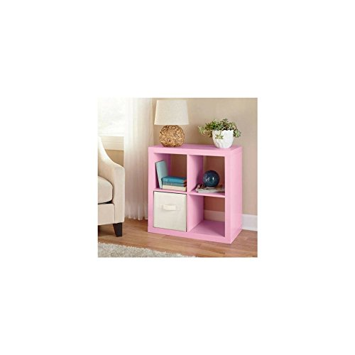 Better Homes and Gardens BH46-084-099-10 MDF & Particle Board Square 4-Cube Organizer, Pink Color ()