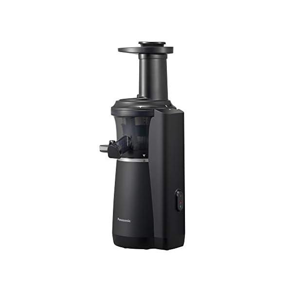 Panasonic MJ-L501KXE Slow Juicer, Estrattore di Succo Senza Lame, Design Salvaspazio Sottile ed Elegante, Elevata silenziosità, Finitura Soft, 150 W, 63 Decibel, Nero - 2020 -