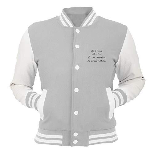 Giacca Chiamarmi Smetterla Grigio Di Tdm00054 College Tua shirtshock T A Madre 2IHWED9Y