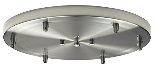 - Illuminare Accessories 6 Light Round Pan in Satin Nickel
