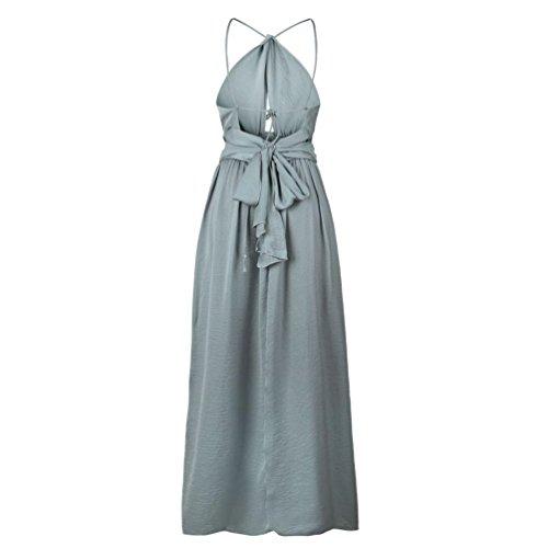 Manche Neck Sexy Taille XL Robe Dress Femme Sans nu POachers Halter Plage Dos S Robes Robes Soire de Longue Solide t Elegante Couleur C8nBA