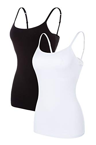 beautyin Women's Camisole with Shelf Bra Spaghetti Straps Cami Tanks