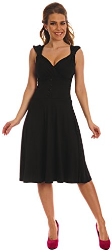 Glamour Empire. Femme. La robe avec sa forme de coeur et sa ligne évasée. 166 (Noir, 34/36)