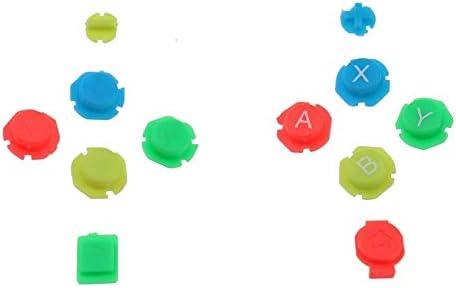 SzKing 任天堂スイッチジョイスティックボタンキット用透明色のプラスチックハウジングシェルケースカバーの交換 ホット (Color : LR Button)