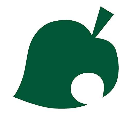 Logo Animal Crossing Leaf ! (Green) (Set of 2) Premium Waterproof Vinyl Decal Stickers for Laptop Phone Accessory Helmet Car Window Bumper Mug Tuber Cup Door Wall Decoration
