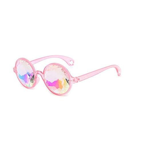 - FUUNY Party Sunglasses Fan Disco Mosaic Round Sun Glass Psychedelic Kaleidoscope Glasses Concert Show Eyewear