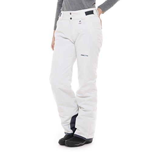 Arctix Women's Insulated Snow Pant, White, X-Large/Regular