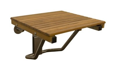Teak ADA Wall Mounted Folding Shower Bench/Seat (26\
