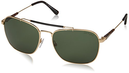 Tom Ford Men's Edward FT0377 28R Sunglasses, Green, 58mm x 17mm x - Ford Tom Male