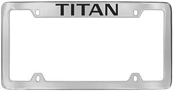 Nissan Titan Titan Cover Chrome Black Metal License Plate Frame Holder