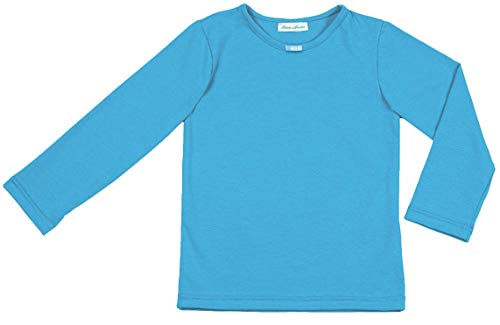 Petite Amelia Little Girls Long Sleeve Bow Tie Top, Size 7, Light Turquoise ()