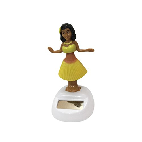 Price comparison product image Mchoice Hawaii Girl Car Solar Powered Dancing Animal Swinging Animated Bobble Dancer Car (B)