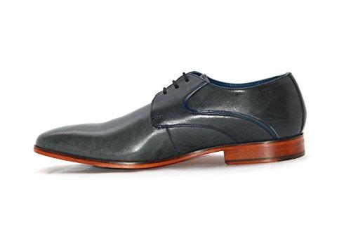 Ninety9steps Chaussures de ville à lacets pour homme Bleu Marine gQyK0