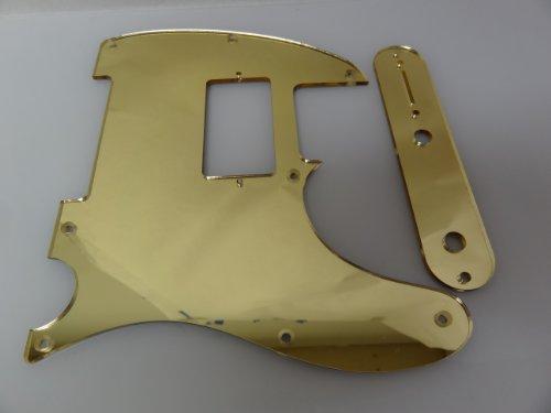 Humbucking Gold Mirror Pickguard Set Fits Fender Tele Telecaster