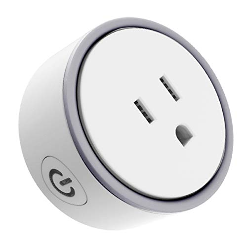Konke Wi-Fi Smart Plug US Mini Outlet With Timer and Charging Protection,Compatible with Alexa,Google Home,Assistant,White,1pack