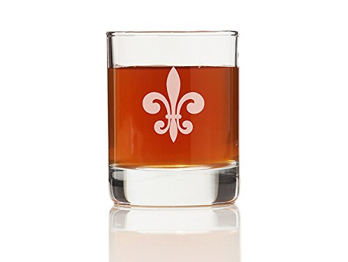 "Chloe and Madison ""Fleur De Lis Glass"" Shot Glass, Set of 4"
