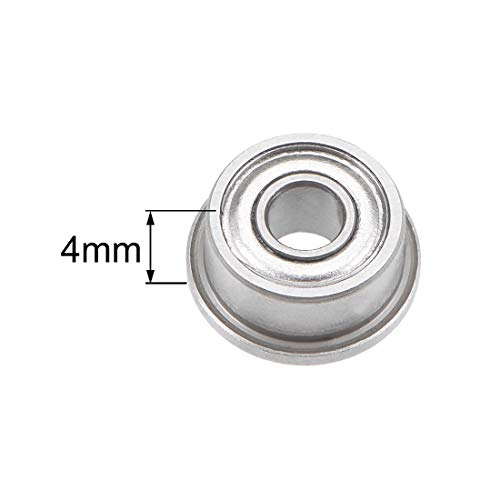 Sourcingmap F693 F685 F686 F688 Rodamiento de bolas con reborde acero cromado 1 2Qty F693ZZ