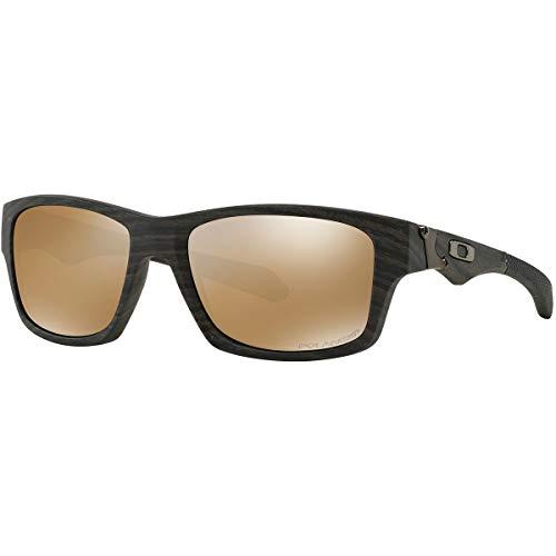 Oakley Jupiter Squared OO9135 Herren Sonnenbrille , 07 Woodgrain/Tungsten Iridium Polarized, 56 (Oakleys Sonnenbrillen)