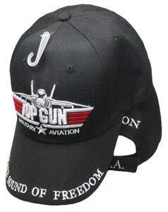 JumpingLight - Gorra de béisbol de aviación Militar, Color Negro ...
