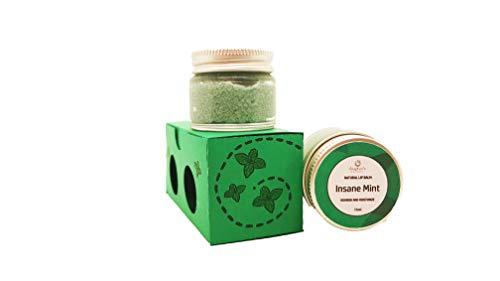 Craftiela Organic Set Lip Balm And Lip Scrub Mint Flavour, Food Graded Ingredients, Sweet Almond Oil, Organic Coconut Oil, Natural Food Colouring, Organic Beeswax Lip Balm