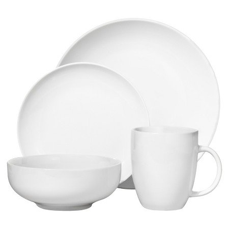 Threshold 16 Piece White Round Coupe Dinnerware Set - White