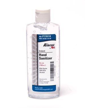 Pro Advantage P779114 Hand Sanitizer, 4 oz. Oval Bottle, Flip Cap, Gel (Pack of 24)