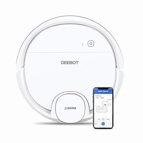 Ecovacs Deebot OZMO 900 - Robot Aspirador 4 en 1: barre, aspira, pasa mopa y friega, mapeo inteligente láser, compatible con Alexa, App, Wifi, reanuda ...