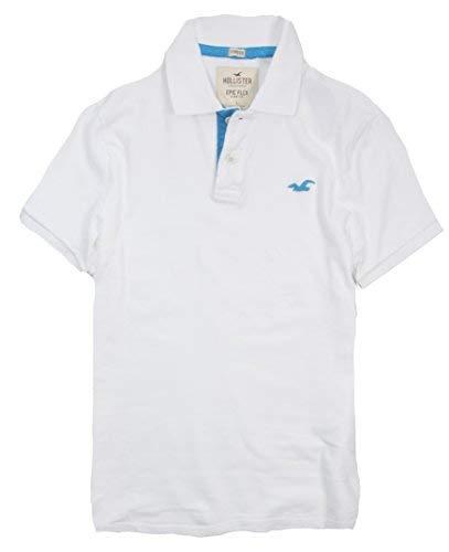 Hollister Men's Polo Shirt T Shirt (XL, White 188) from Hollister