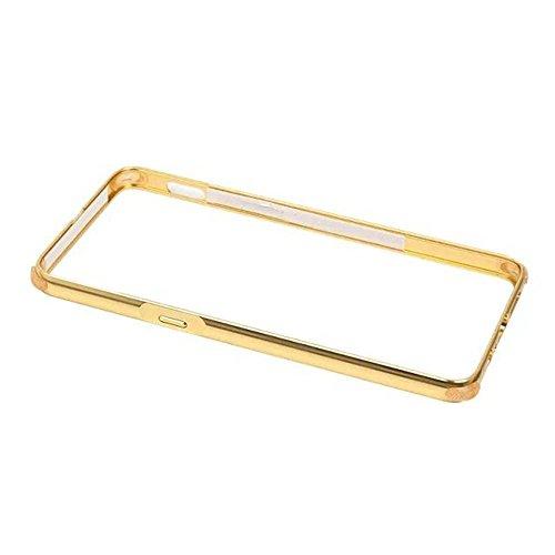 One Plus 3 Funda - Sunroyal® Mirror Gris Metal Frame Aluminum Marco + PC Espalda Carcasa Bumper Parachoques Espejo Bumper Case Cover Ultra Delgado Slim High Quality Chic Stylish [Resistente a los Arañ A-Oro