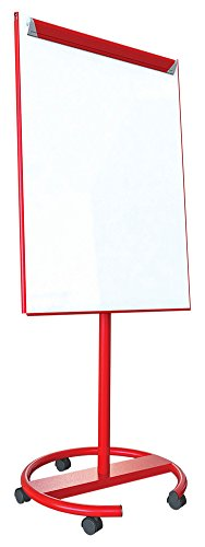 Spaceright Europe 68 x 90 cm Ultra Mate Mobile Flipchart Easel - Red