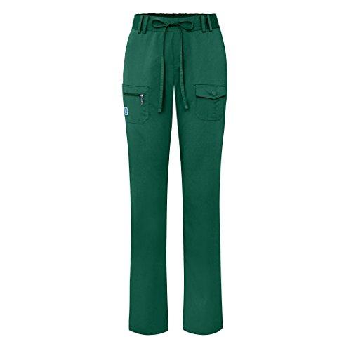Adar Indulgence Womens Low Rise Tapered Leg 6 Pocket Drawstring Scrub Pants - 4100 - HGR - M