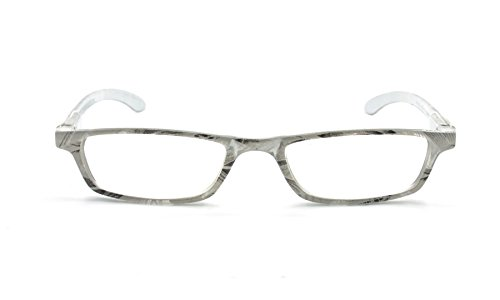 EYE-ZOOM Art Design Readers Spring Hinge Reading Glasses for Men and Women Choose Your Magnification, Grey, +2.25 - Eyewear Art
