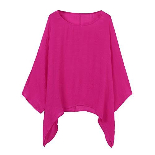 T Autumn lunga camicetta rosa shirts taglie casual donna 5xl manica Lenfesh S girocollo pullover 1 donna forti eleganti Camicie d5xgqHnn0w