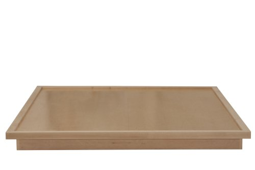 Urbangreen CLV1CK-MUnf Low Platform Bed in Maple, California King, Unfinished