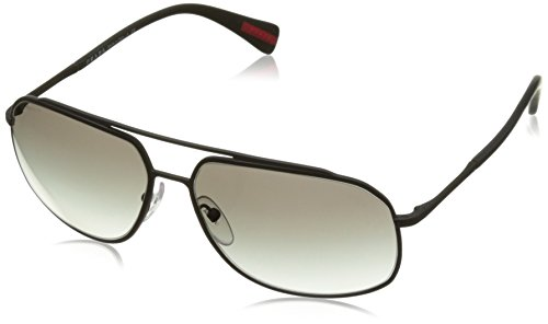 Prada Black Sonnenbrille Sport PS 56RS Rubber rgBrFx