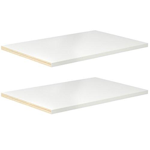 """Modular Closets ¾"""" Wood Closet Shelves - 2 Pack (Adjustable, 22.5"""
