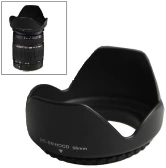 Black Screw Mount CYcaibang Camera Lens Accessories 58mm Lens Hood for Cameras