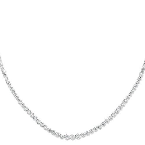 - Collier Femme-Argent 925/1000-Oxyde de zirconium