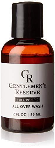Mens Travel Size Shampoo and Body Wash (2oz) (Tea Tree Mint, 2oz)