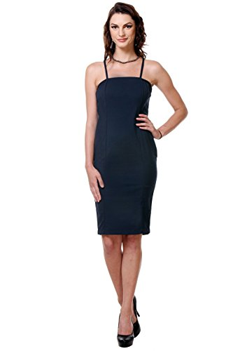Blau Damen Navy Kleid - Kaaryah Schlauch