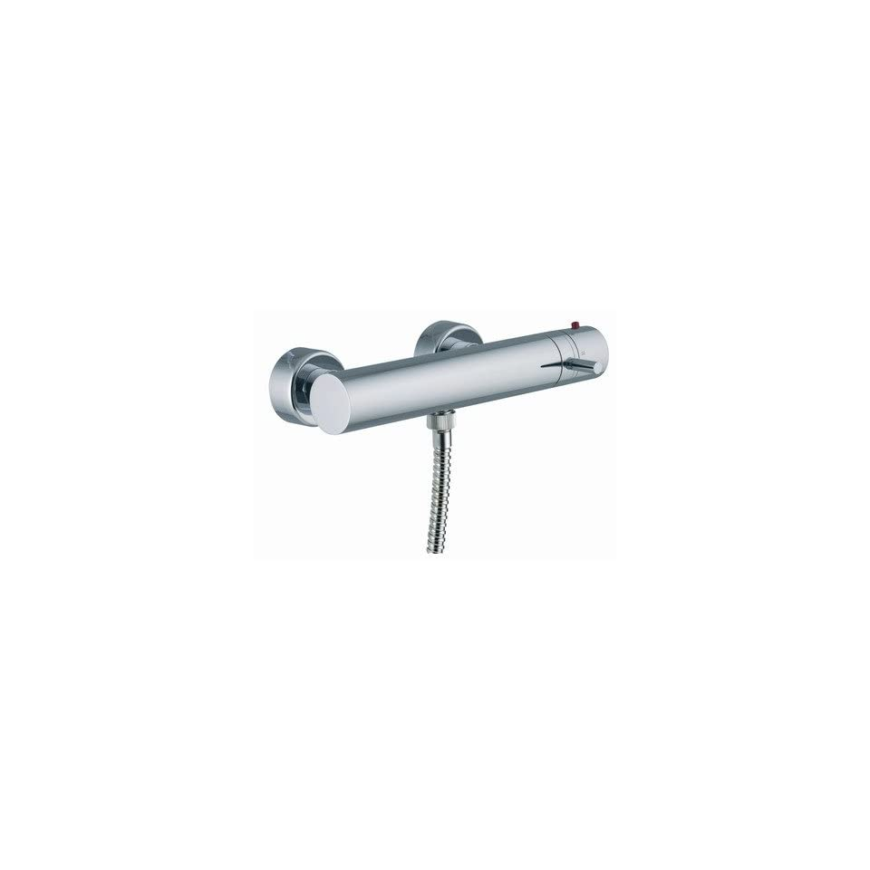 Spillo Wall Mount Thermostatic Faucet Shower Faucet Trim Only Finish Brushed Nickel