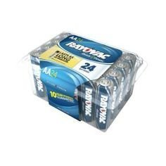 Rayovac Alkaline AA Batteries, 815-24PPF, 24-Pack with Reclo