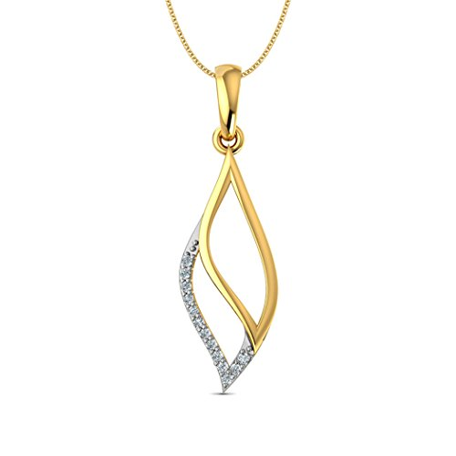 18 K Or Blanc 0,05 CT TW Round-cut-diamond (IJ | SI) Pendentif