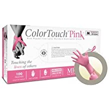 Microflex Colortouch Pink Powder Free Medical Grade Latex Exam Gloves (1000 Case)