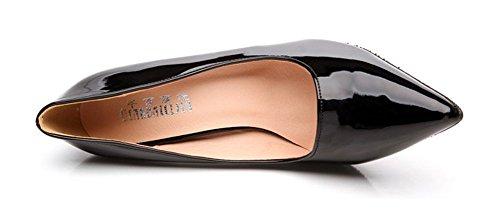 Scarpe Donna Easemax Stiletto A Punta Bassa Slip On D-orsay Scarpe Col Tacco Alto Nere