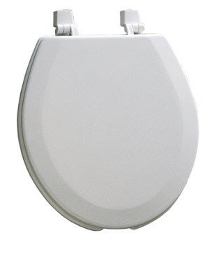 Open Front Round Toilet Seat with Cover - Bemis Round Open Front